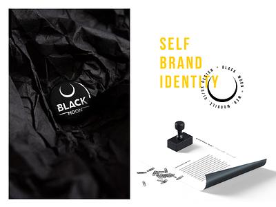 Self brand identity illustration black blackandwhite brand design brand identity brand ui designinspiration vector typography clean logo branding