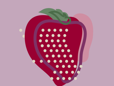 abstract strawberry