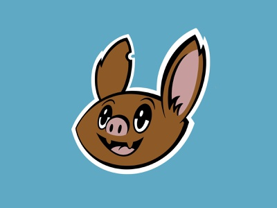 Beach Court Elementary Bats procreate kids identity icon design character illustration logo athletics bats mascot school elementary