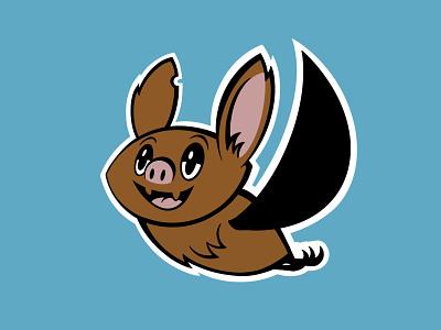 Beach Court Bats bats bat mark athletics branding kids identity logo icon illustration mascot school elementary