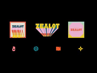 Zealot Press vintage vibe 70s retro type design indie zine podcast publishing press logo