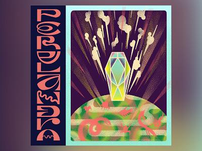 Perelandra cosmic trilogy perelandra lewis procreate texture typography scifi sci-fi art dvd poster illustration science fiction