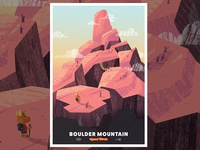 Boulder Mountain Poster