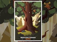 Broccoli Cedars Poster