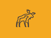 Moose and baby logo