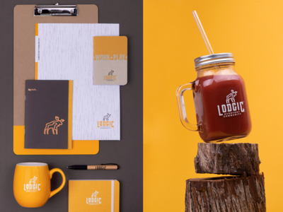 Brand Collateral: Lodgic color palette applications photography swag identity logo brand branding