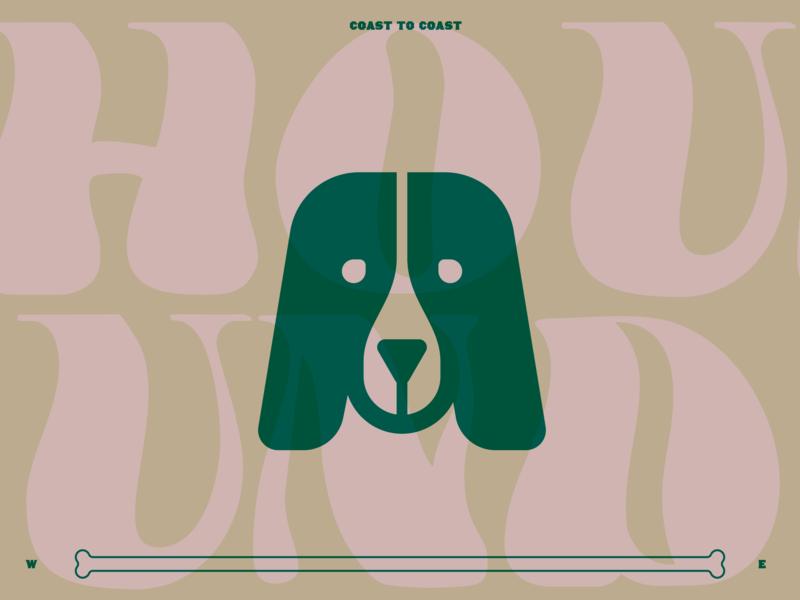 You ain't nuthing but a hound dog branding illustration puppy design mark animal typography identity logo icon dog hounddog
