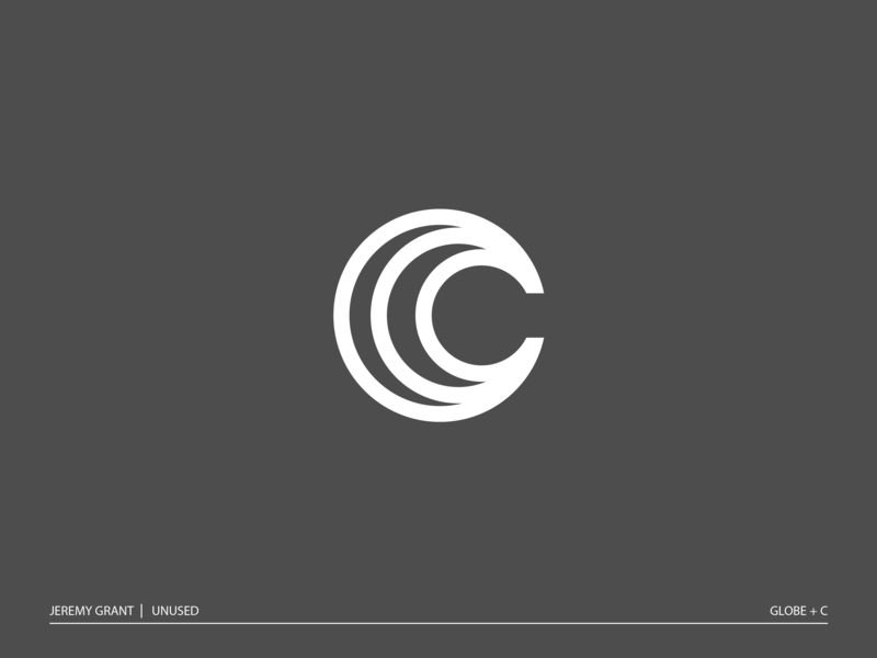 C world clean modern icon world logo identity mark globe monogram c