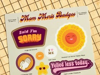 Mom Merit Badges