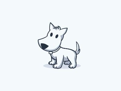 Cute Puppy Illustration By K Arts Dribbble Dribbble