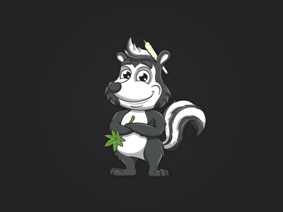 Skunk with Joint joint vector design illustration mascot character cartoon animal skunk