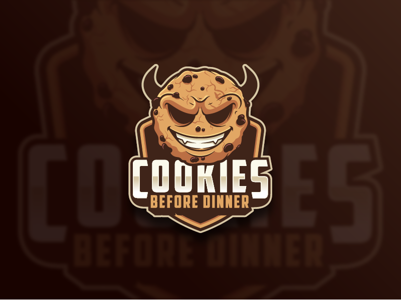 Evil Cookie Logo playful awesome funny logo vector mascot character design cartoon illustration cookie evil