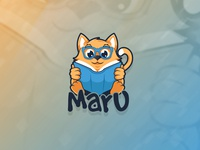 Maru The Cat Logo design