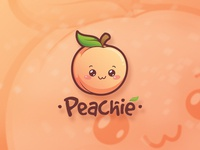 Peachie Logo Design