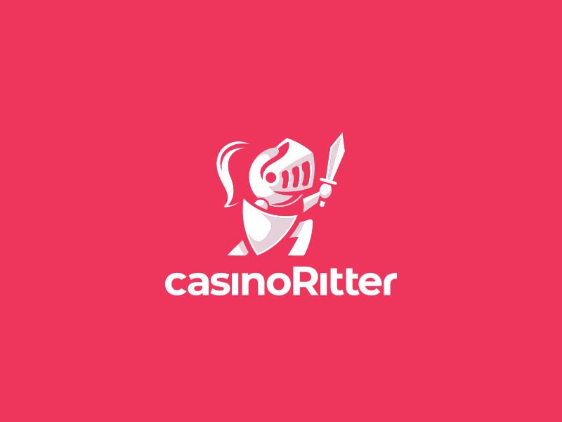 CasinoRitter Logo icon brand clean simple modern cute negative space negative-space minimal casino knight vector design logo