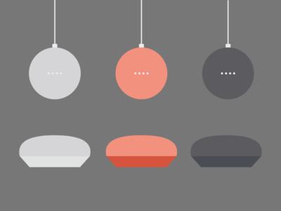Google Home Mini Illustrations illustrations