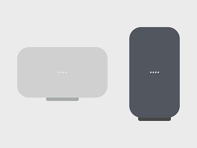 Google Home Max Illustrations