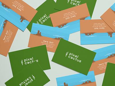 Pixel Cactus Business Cards illustration branding business card logo pixel pixel art