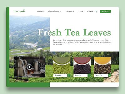 Tea Leaves hero page tea responsive web responsive design concept web ux ui design