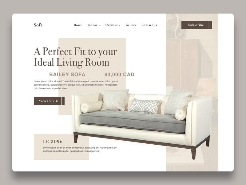 Sofa By John Han On Dribbble