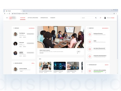 Enterprise intranet dashboard ui dashboard intranet