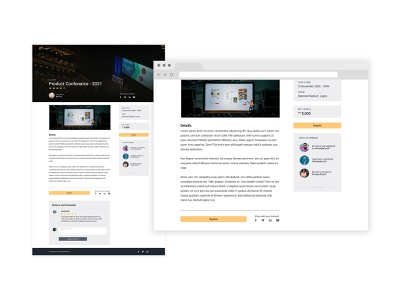 Event Landing Page Design for iEventify landing page events app events webapp interaction design ux ui