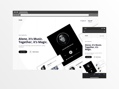 Music App Landing Page Clone music player website codepen html css mobile rebound music app uidesign landing page music app ui product design uiux ui