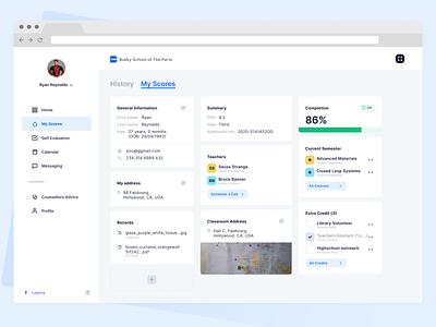 eLearning Dashboard  Concept education developer frontend development reactjs dashboard ui dashboad learning design webapp ux interaction design ui