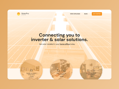 WIP landing page for SolarPro Africa africa solar clean energy energy product design design branding landing page ui
