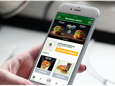 Mcdonald's mobile app redesign morocco delivery mobile app design ui design food mobile sketch ux ui