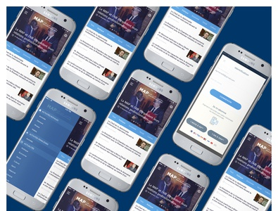 Agence Marocaine de Presse mobile app mobile app mobile app design ux ui sketch mobile mobile ui press
