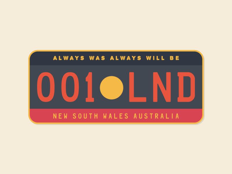 Aboriginal License Plate prompt australia politics land aboriginal illustration license