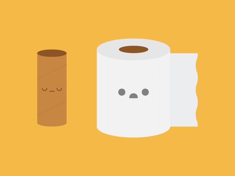 Toilet Paper Woes toilet flat australia kawaii cute illustration toilet paper