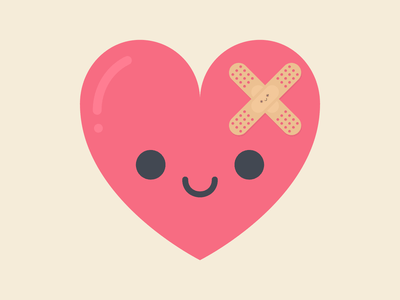 Healing Heart illustration kawaii cute flatdesign coronavirus covid19 covid-19 sick love heart weeklywarmup