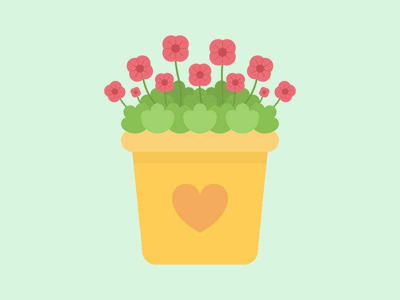 Mother's Day Geraniums 2020 simple flat cute geranium flowers mothers day