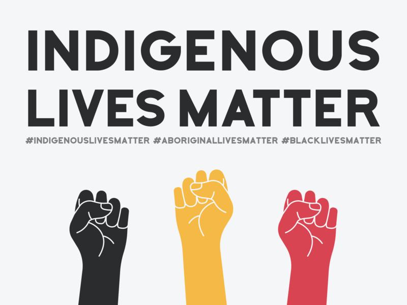 Indigenous Lives Matter protest illustration blacklivesmatter