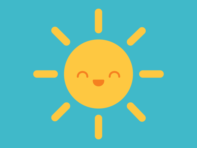 Summer Sun vibrant happy smile summer sun kawaii cute dribbbleweeklywarmup