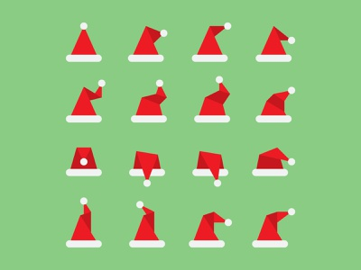 Santa Hats hats santa christmas vector illustration