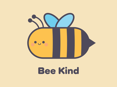 Bee Kind happy kindness kind kawaii cute illustration bee