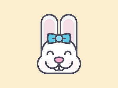 Cute Kawaii Bunny Face pixelart pixel minimal flat rabbit bunny vector illustration kawaii cute