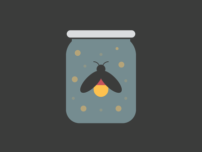 Firefly Glow insect bug light glow firefly minimal simple flat vector illustration