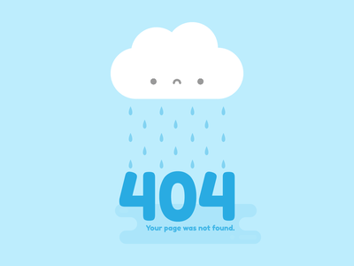 Cute Kawaii Sad Cloud 404 error rain cloud 404 illustration kawaii cute