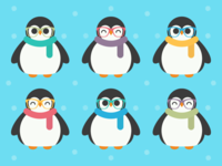 Cute Kawaii Cool Penguins
