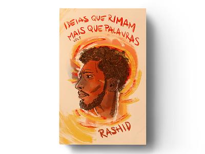 """""""Ideias que rimam mais que palavras Vol. 01"""" editorial mockup design portrait illustration book cover cover book"""