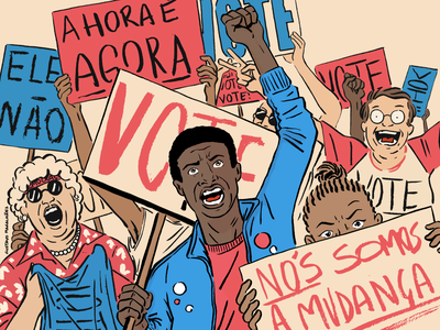 CM&T Ep 13 vote elections podcast art podcast illustration editorial illustration editorial cover art cover