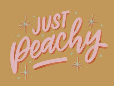 just peachy procreate ipad designer art hand type illustration letterer graphic graphic design hand lettering calligraphy type design lettering typography peach peachy