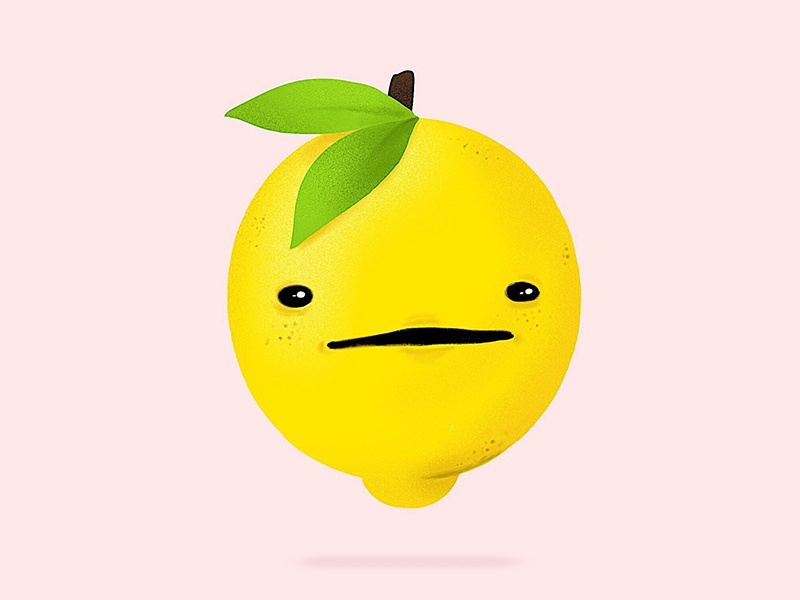 confused lemon vector graphic design illustrator design graphic design illustrated procreate digital drawing lemon ipad illustrator illustration
