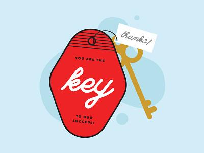 teacher appreciation graphic #1 keychain red blue success key illustrator appreciation teacher appreciation teacher branding vector illustration