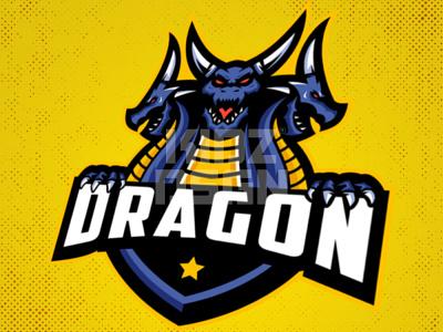 Dragon Mascot Logo For Sale basketball mascot logo mascot esport gaming design logo esport logo design logo sport logo