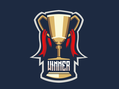 Winner Cup illustrator cup winner logo sport logo design logo